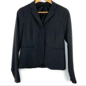 Theory Wool Lined Gray Blazer